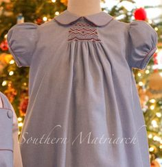 "Southern Matriarch: Children's Corner ""Carol"" smocked version."