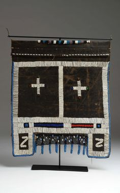"Africa | ""Amaphotho"" woman's apron from the Ndebele people of South Africa…"