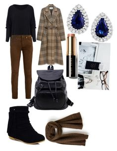 """Без названия #15"" by missis-akvamarine ❤ liked on Polyvore featuring Yves Saint Laurent, Mulberry, Lacoste and Bobbi Brown Cosmetics"