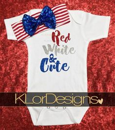 Fourth Of July Onesie My First Fourth of July Baby by KLorDesigns