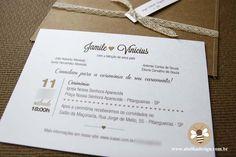 Convites de casamento estilo clássico | Abelha Design - Convites de casamento