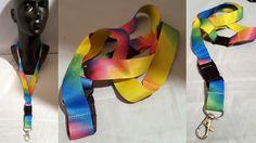 Rainbow Blend GAY PRIDE Neck Lanyard  Key chain Key ring For Keys ID Badge  #Volkswagen #IDBadgeHolders