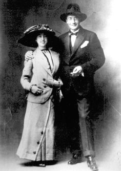 Daniel and Virxinia Castelano at the 1912 wedding.