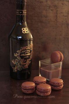 Macarons au Baileys Chocolat Luxe - www.puregourmandise.com