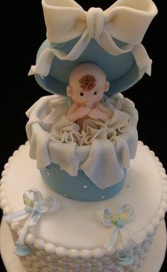 BÉBÉ garçon Cake Topper, Baby Cake Topper, bébé douche Cake Topper, Baby Boy Cake Topper, décoration de gâteau de garçon, bleu Baby Shower, garçon bébé douche