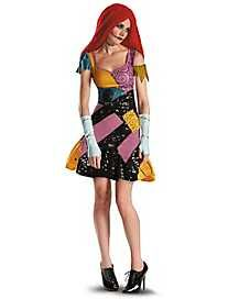 The Adult Sally costume includes a patchwork style mini dress with black sequin detail, fingerless gloves with stitch print and red yarn wig. Adult Sally Costume, Nightmare Before Christmas Sally Costume, Womens Sally Costume, Sally Halloween Costume Sally Halloween Costume, Halloween Kiss, Halloween Fancy Dress, Adult Halloween, Spirit Halloween, Halloween Ideas, Halloween Party, Halloween 2017, Best Female Halloween Costumes