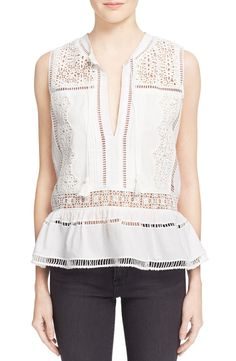 Everything about this pleated cotton-voile blouse exudes bohemian femininity…