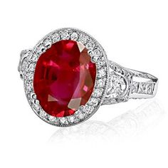 Oval ruby & diamonds