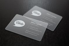 Translucent Business Cards MockUp - Freebies - Fribly