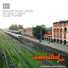 The Gorakhpur Railway Station, located in the city of Gorakhpur in Uttar Pradesh, became the world's longest railway platform on October 6, 2013. The platform stretches around 1.35 kilometres (0.84 miles). One of the busiest railway stations in India, it handles over 189 trains and about 270,000 passengers daily.  To download and read more India Unveiled stories, visit www.indiaunveiled.org