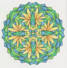 Magical Mandalas 024 done with pencils Adult Coloring, Coloring Pages, Creative Haven Coloring Books, Gel Pens, Zentangle, Pattern, Painting, Craft, Mandalas