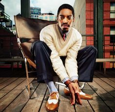 Artist: T. Track: Sorry Feat. André 3000 Producer: Jazzy Pha Album: Trouble Man: Heavy is the Head Forget an expensive car, or hell, even an expensive yacht, Sharp Dressed Man, Well Dressed Men, Afro, Urban Fashion, Mens Fashion, Fashion Black, Classic Fashion, Unique Fashion, Fashion Ideas