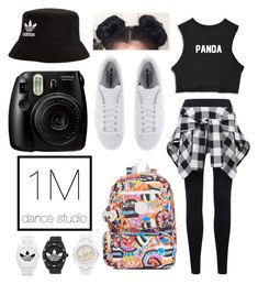 """1million dance studio//dance outfit"" by yza-1127 on Polyvore featuring adidas Originals, Kipling and adidas"