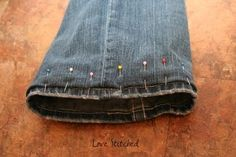Keep original hem  be able to let the length back out :) if-i-ever-learn-to-sew