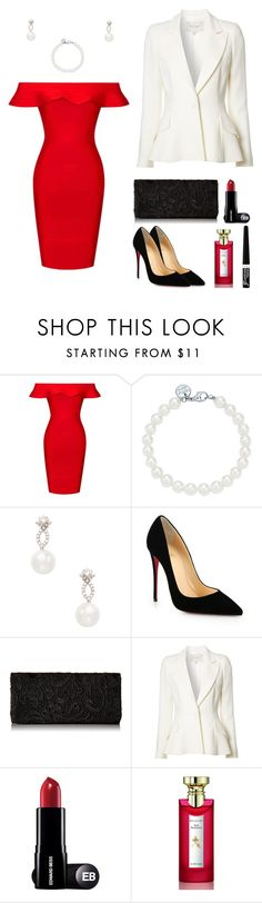 bold red by monocass on Polyvore featuring Posh Girl, Carolina Herrera, Christian Louboutin, Tiffany & Co., Inner Circle Jewelry, Rimmel and Bulgari
