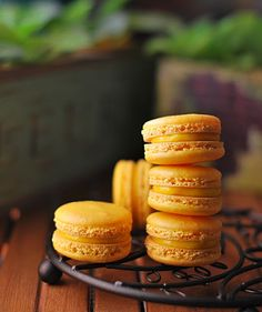 Just another day .: Orange macarons