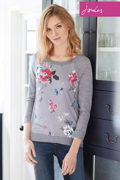 Buy Joules Paloma Soft Grey Floral Knit from the Next UK online shop