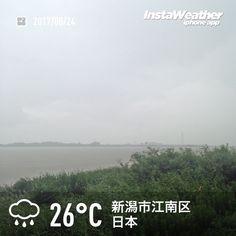 おはようございます! 全体的に白いのは大雨のため〜(汗