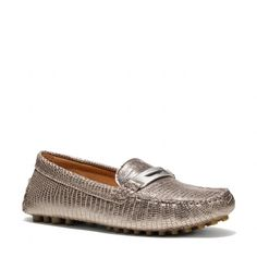 The Nola Embossed Snake Loafer from Coach