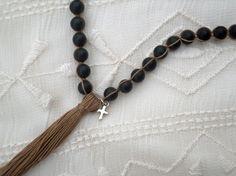 Black Stone Layering Necklace