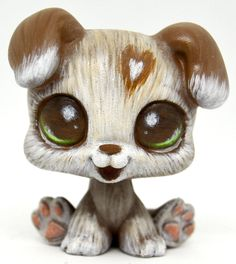 Littlest Pet Shop Boxer Baby Puppy Dog OOAK Custom by TheLeyLine.deviantart.com on @DeviantArt