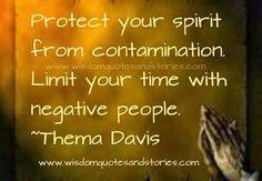 No te contagies de energía negativa.