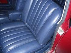 Austin 1500 Vandem Plas concourse leather interior refurbishment front seat