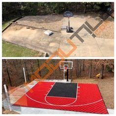 Sport Basketball Court Floor 30x25 Kit Modutile Interlocking Sport Tiles Basketball Court Backyard Backyard Basketball Home Basketball Court