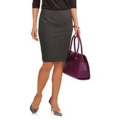 George Women's Career Suit Skirt, New Updated Fit, Size: 18, Gray