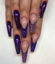 nya färgen Purple Passion med matchande glitter allt från #lillynails