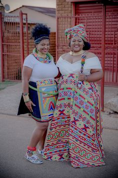 A Gorgeous Ndebele-Xhosa Wedding Sepedi Traditional Dresses, African Traditional Wear, African Traditional Wedding Dress, African Dresses For Women, African Attire, African Fashion Dresses, South African Wedding Dress, South African Weddings, Emo Dresses