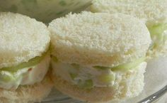 What's high tea without cucumber sandwiches! My own recipe.