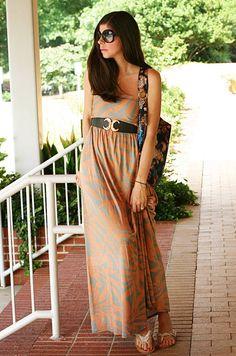 Orange Maxi Dress - Fashion Chalet  #Hourglass Lilly #Maxi Dress