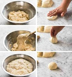 No stand mixer, no knead, no special equipment required. These No Knead Dinner Rolls are perfectly soft and fluffy and are astonishingly effortless to make. Just combine the ingredients in a bowl and Dinner Rolls Easy, Fluffy Dinner Rolls, Homemade Dinner Rolls, Dinner Rolls Recipe, Recipe Tin, Biscuit Recipe, Baking Buns, Recipetin Eats, Easy Bread