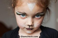 Halloween Costume makeup for kids - Little Miss Kitty