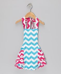 Take a look at this Pink & Aqua Zigzag Bubble Bodysuit - Infant & Toddler on zulily today!
