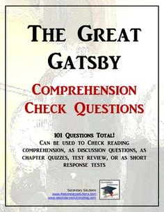 the great gatsby study guide: 1-6 Flashcards   Quizlet