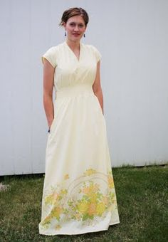 I love this one made from Vintage Sheets.  Feather's Flights {a creative, sewing blog}: Ten Maxi Dress Patterns and Tutorials