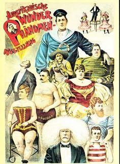 Victorian-German-Freak-Show-Circus-Poster-A3-Print