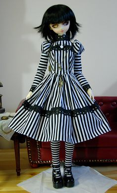 BJD Dress with Bold Fabric  SD13  madetoorder by DollCandy on Etsy, $35.00