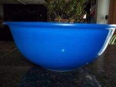 Blue with Clear Glass Bottom Pyrex  325 2.5 by PyrexKitchen, $25.00