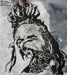Papercut Art - Sadhu by ParthKothekar on DeviantArt Paper Art, Paper Crafts, Indian Artist, Paper Embroidery, Pop Up Cards, Fabric Painting, Paper Cutting, Hand Carved, Sketches
