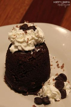 This is the best healthy chocolate mug cake around.  Only 184 calories and it tastes like heaven! www.happybeinghealthy.com