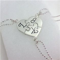 Heart Puzzle Charm Necklace01 Great for Little Girls Friendship charms. Check out AprilShelley great personal friend's of mine.  put Amy in the memo if you buy something. Happy shopping.