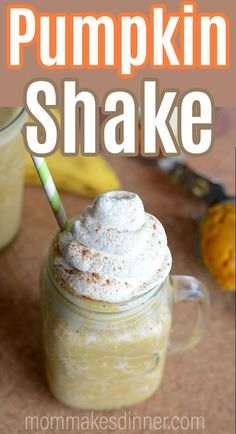This pumpkin spice shake is the perfect transition from summer to fall! My homemade pumpkin shake is a sweet treat with a healthy twist. Try one today! Easy Drink Recipes, Easy Homemade Recipes, Delicious Breakfast Recipes, Best Dessert Recipes, Coffee Recipes, Pumpkin Recipes, Yummy Drinks, Easy Desserts, Fall Recipes
