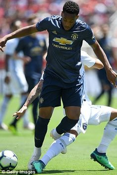 Martial in action on United's US tour before he came home early Anthony Martial, Man United, Get Well, Messi, Manchester United, Chelsea, Boards, Soccer, Sporty