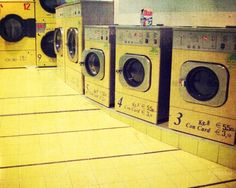 Vintage laundry mat in Venice | Smelly Towels? | Stinky Laundry?| Washer Odor? | http://WasherFan.com | Permanently Eliminate or Prevent Washer & Laundry Odor with Washer Fan™ Breeze™ |#Laundry #WasherOdor#SWS