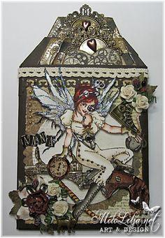 "Created by MiloLilja - Sweden • Instagram: milolilja • Pinterest: milolilja • Facebook: ""Milo Lilja - Art & Design"" • #scrapbooking #crafting #art #milolilja #cardmaking #paperart #shabbychic #artist #vintage #handmade #thirdcoastrubberstamps #steampunk"