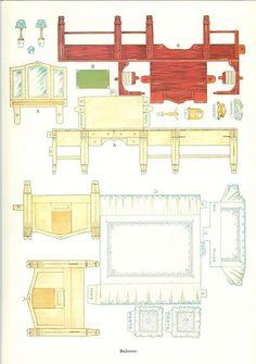 Recortables para ni os muebles recortables para casitas for Muebles gitanos