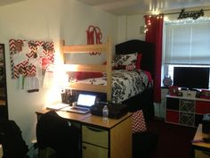 Red Black And White Dorm! Nc State Wolfpack Part 20